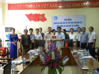 Working with the mission of the Ministry of Education and Sports of the Lao People's Democratic Republic
