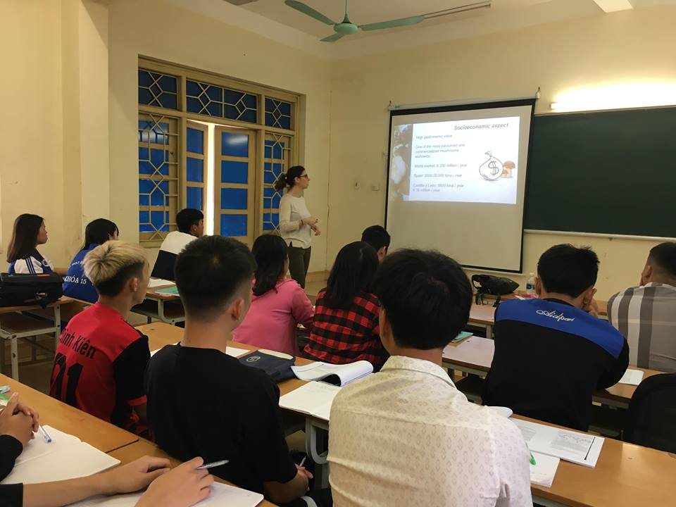 "She gave a lecture about ""the role of fungi in forest based economy"" for students from the faculty of Natural Resource and Environment"